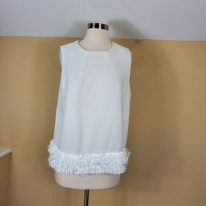 4/$25 Fashion Union Sleeveless Blouse with Fringe